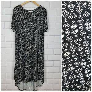 LULAROE Black & White Print Carly Dress  A1-4